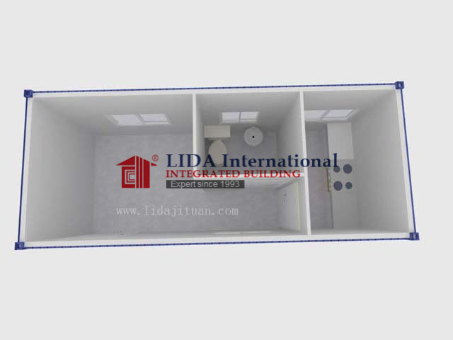 20FT Container House for Accommodation with Kitchen and Toilet LDC834