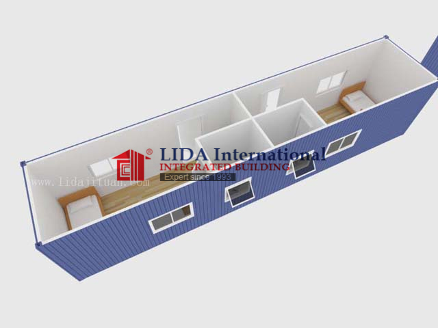 40FT Container House with 2 Bedrooms LDC843