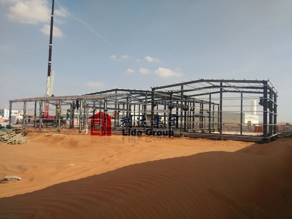 Pre Engineered Steel Structure Workshop in Al Ain, UAE